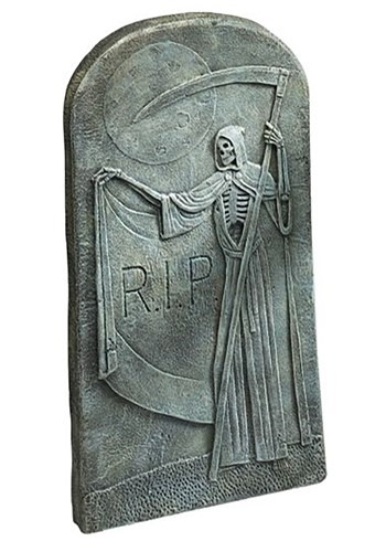 "Grim Reaper Tombstone 26.5"" Decoration"