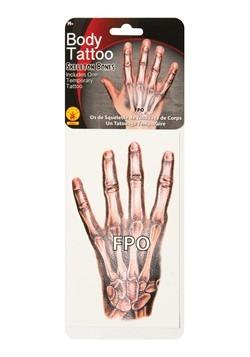 Skeleton Bones Hand Tattoo