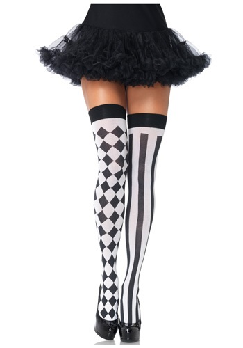 Harlequin Thigh High Stockings