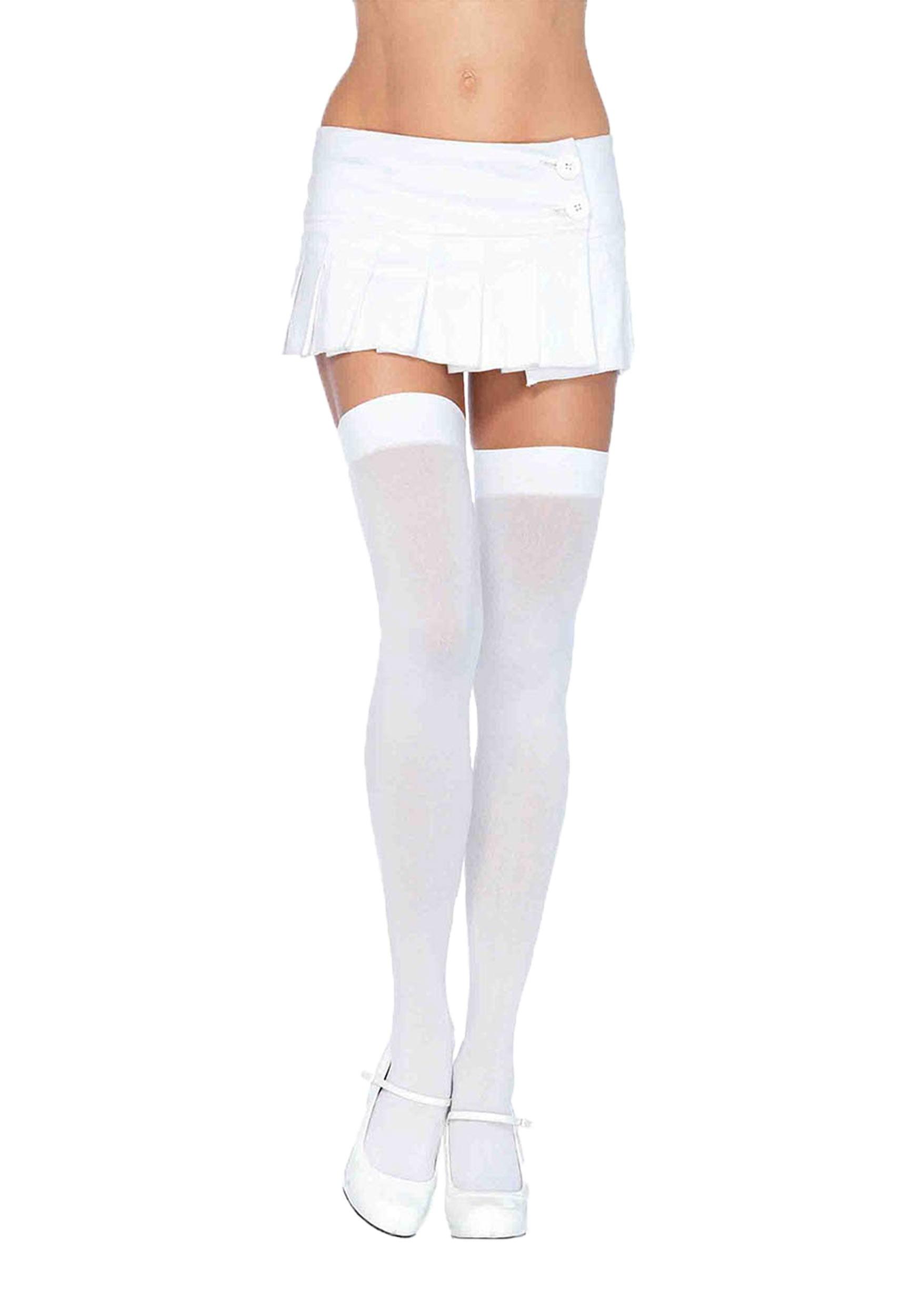 174f730643783 White Thigh High Stockings