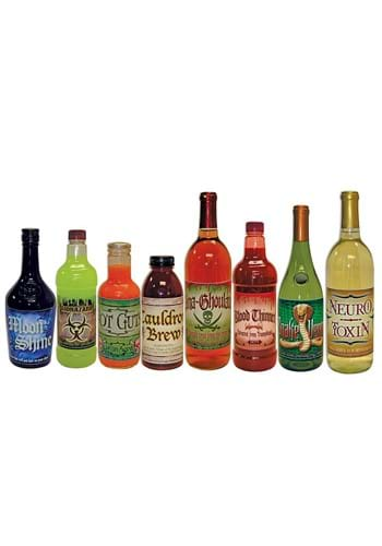 Scary Bottle Labels 8 Pack