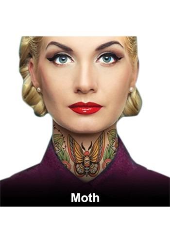 Moth Neck Tattoos