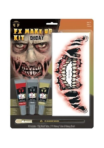 Big Mouth Decay Temporary Face Tattoo