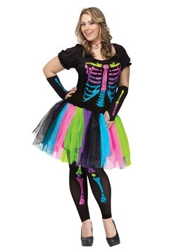 Womens Plus Size Funky Punk Bones