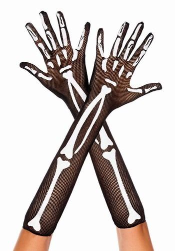 Skeleton Fishnet Gloves