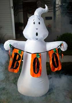 "60""H Electric Color Changing Inflatable White Ghost w/ Boo S"