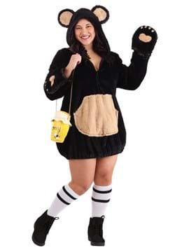 Plus Size Cozy Brown Bear Womens Costume
