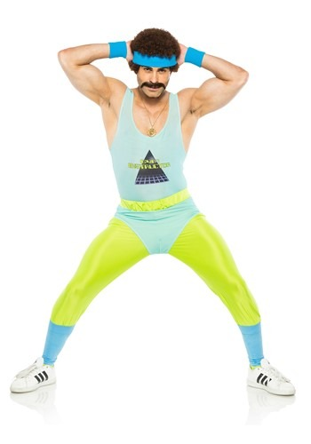 Men's 80's Gym Instructor Costume