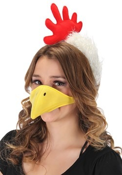 Chicken Plush Headband & Beak Kit