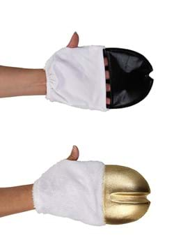 Unicorn Costume Front Hooves Gold