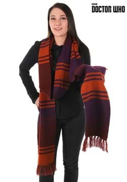 Fourth Doctor Deluxe Purple Knit Scarf 12'