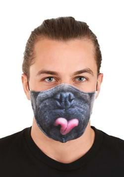 Adult Pug Sublimated Face Mask