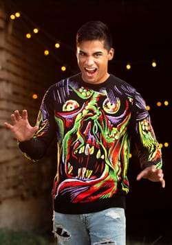 Face the Monster Halloween Sweater for Adults Alt 3