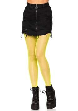 Womens Yellow Nylon Fishnets
