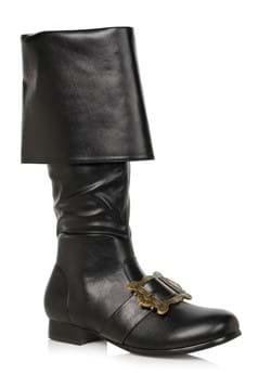 Mens Black Pirate Buckle Boot