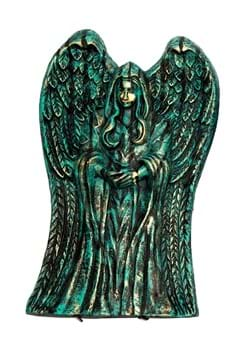"21"" Winged Angel Tombstone Decoration"