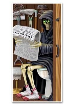 Grim Reaper Restroom Door Cover
