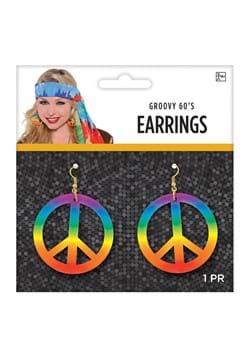 Tie Dye Peace Earrings