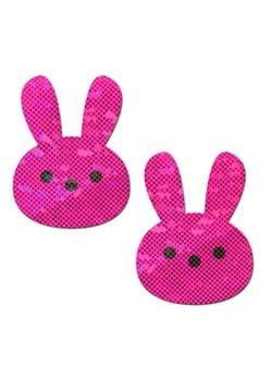Pastease Glittery Pink Marshmallow Easter Rabbit Pasties