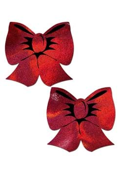 Pastease Holographic Red Bows Pasties