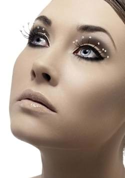 Black Eyelashes with Droplets with Glue