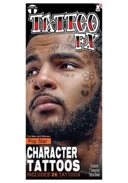 Pop Star Face Tattoo