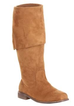 Mens Brown Captain Pirate Boots