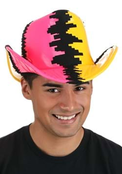 Pink & Yellow Randy Savage Deluxe Cowboy Hat