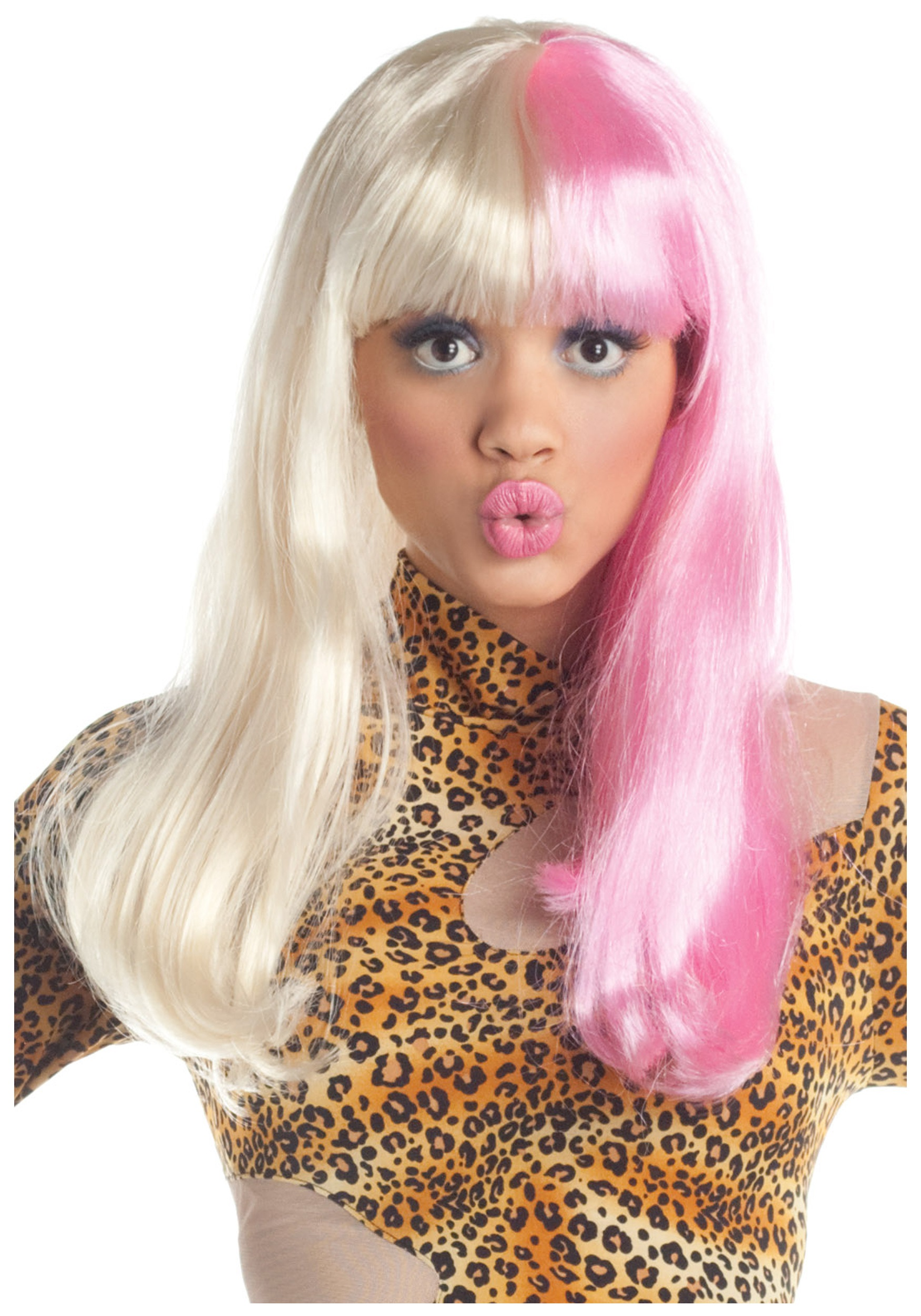 INOpets.com Anything for Pets Parents & Their Pets Pink and White Diva Wig