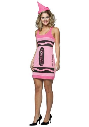 Sexy Pink Crayon Dress