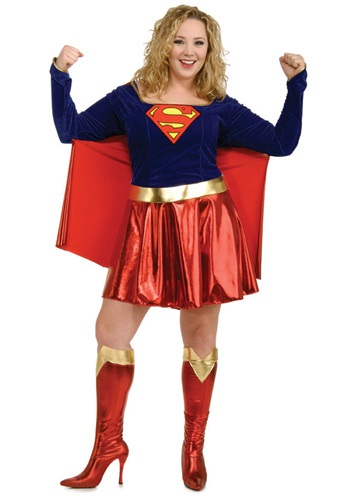 Adult Plus Size Supergirl Costume