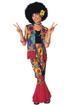 Girls Flower Power Hippie Costume
