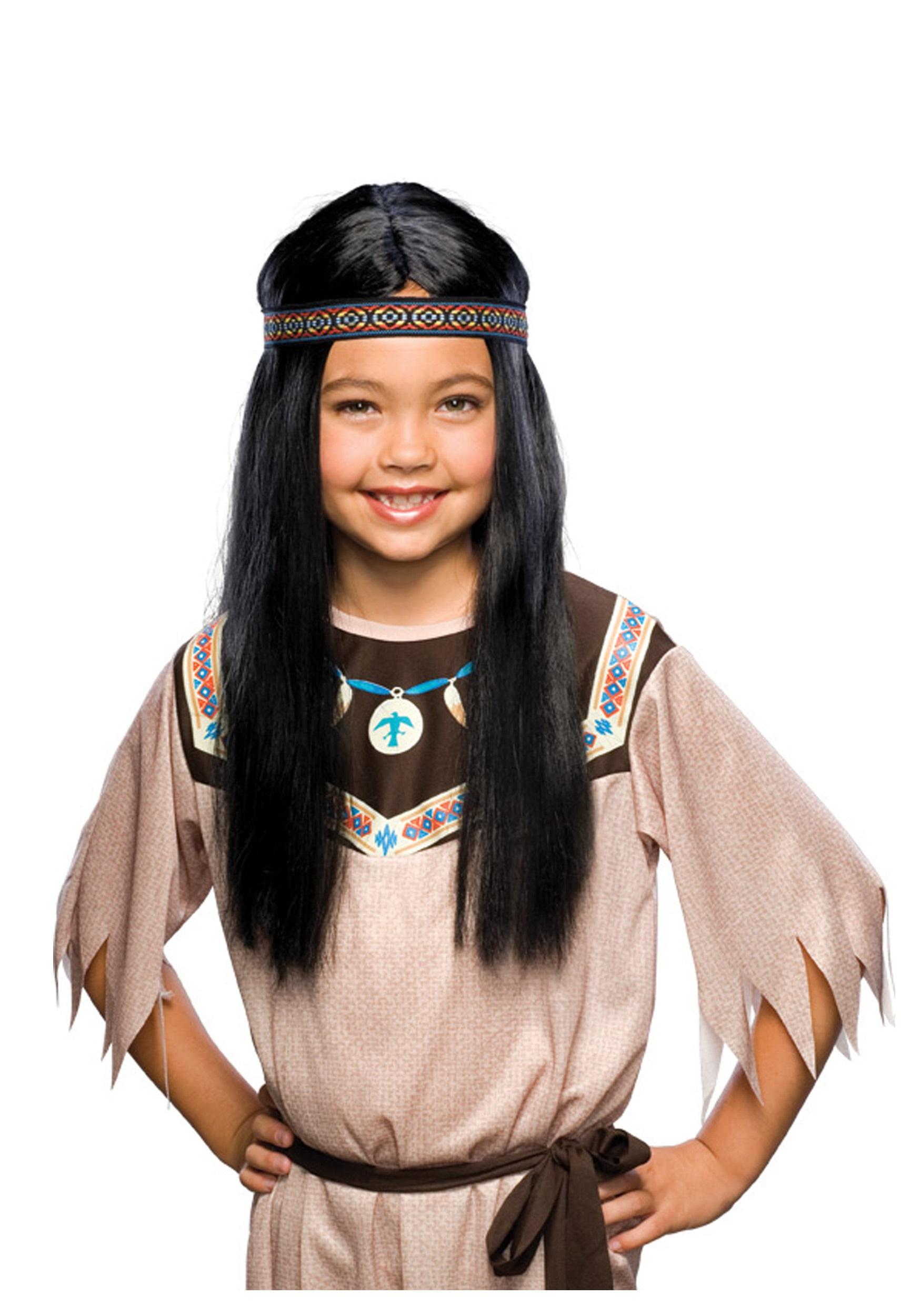 3bca4279222 Child Black Pocahontas Wig