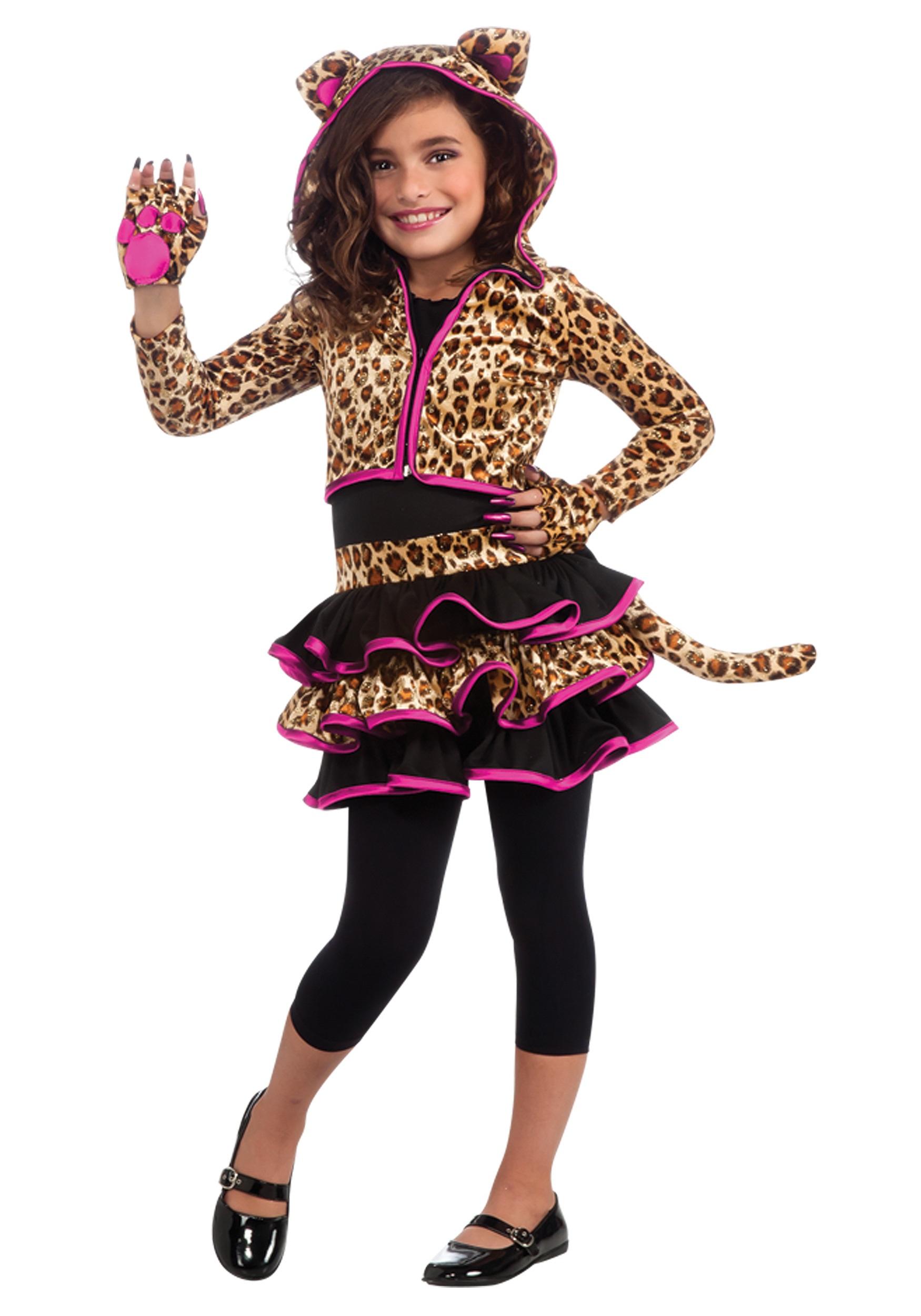 Girls Leopard Hoodie Costume Animals Costumes Kids Costumes
