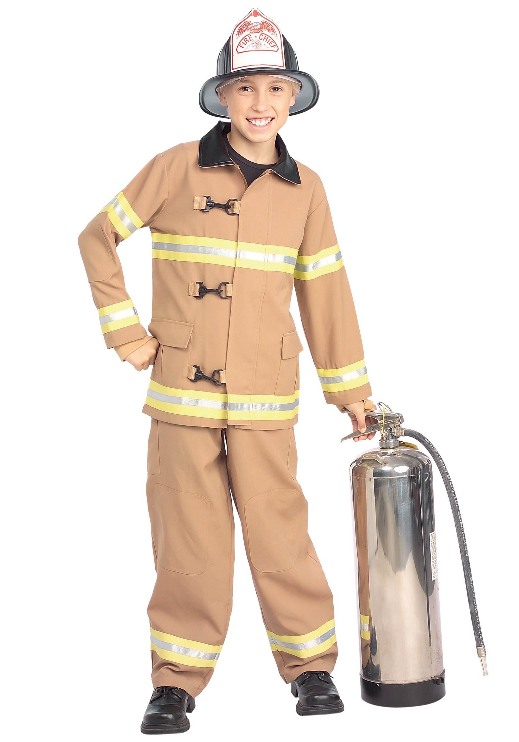 Child Fireman Fancy Dress Costume