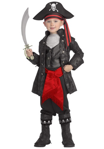 Kid's Captain Black Pirate Costume