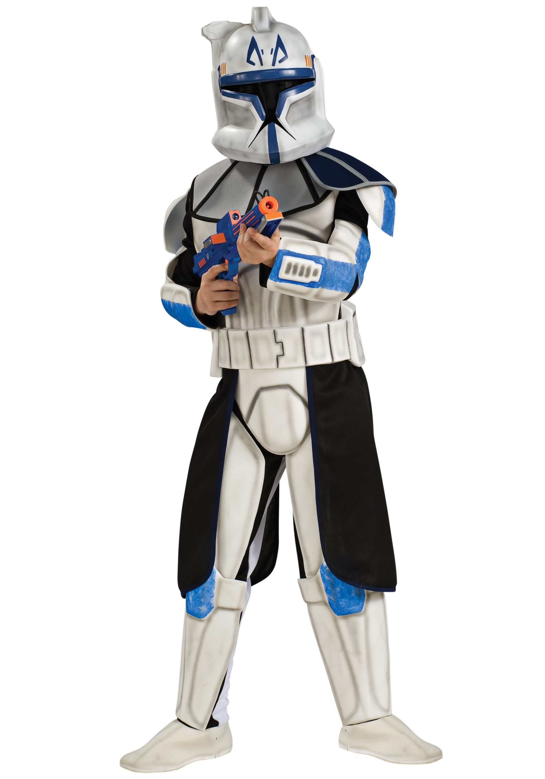 Child Deluxe Blue Clone Trooper Rex Fancy Dress Costume